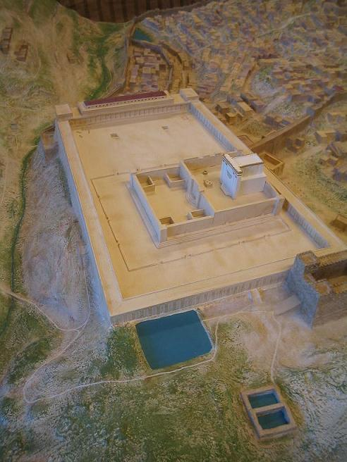 Picture of Herods temple 33 AD from teh North